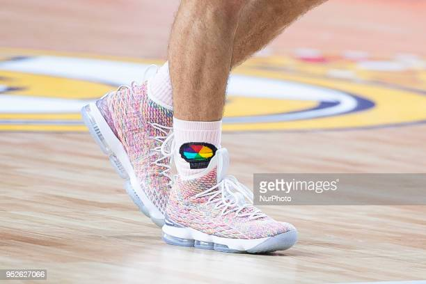 The shoes by Mike James of Panathinaikos Superfood during the Turkish Airlines Euroleague Play Offs Game 4 between Real Madrid v Panathinaikos...