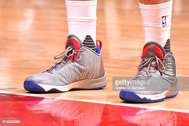 The shoes of Blake Griffin of the Los Angeles Clippers are seen against the Utah Jazz on October 30 2016 at STAPLES Center in Los Angeles California...
