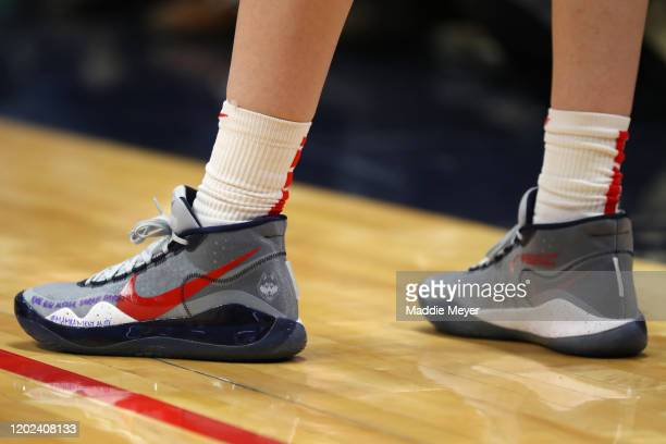 The shoes of Breanna Stewart of the United States honoring former NBA player Kobe Bryant during USA Women's National Team Winter Tour 2020 game...