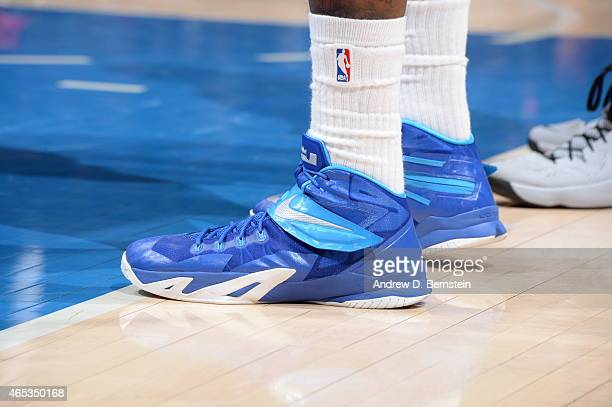 49d99d7f39ba23 The shoes of DeAndre Jordan of the Los Angeles Clippers during the game  against the Portland