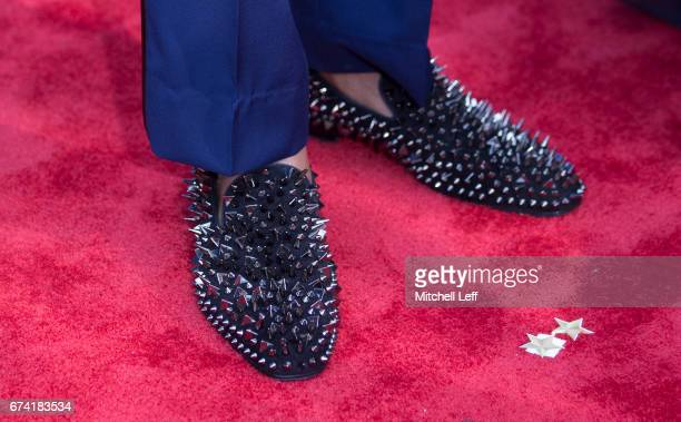 The shoes of Deshaun Watson of Clemson on the red carpet prior to the start of the 2017 NFL Draft on April 27 2017 in Philadelphia Pennsylvania