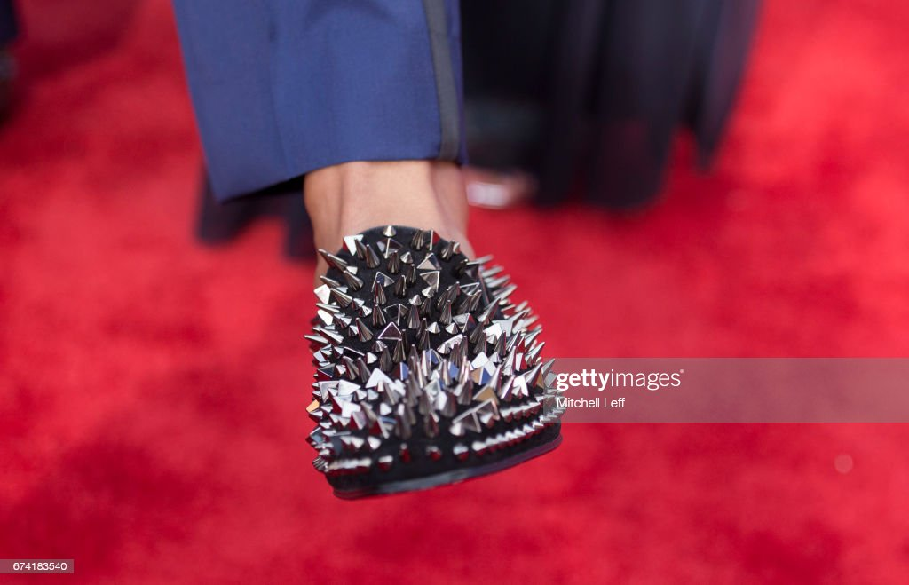 The shoes of Deshaun Watson of Clemson on the red carpet prior to the start of the 2017 NFL Draft on April 27, 2017 in Philadelphia, Pennsylvania.