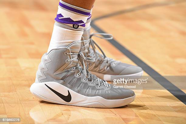 The shoes of Garrett Temple of the Sacramento Kings during the game against the San Antonio Spurs on October 27 2016 at the Golden 1 Center in...