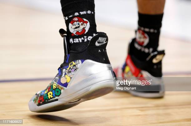 The shoes of Jamario Moon of the Triplets is seen during the BIG3 Championship at Staples Center on September 01, 2019 in Los Angeles, California.