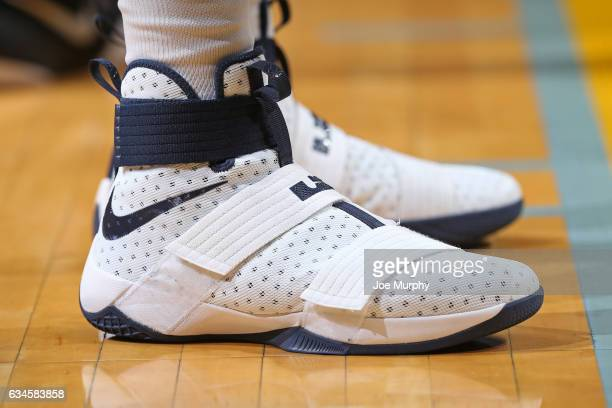 The shoes of JaMychal Green of the Memphis Grizzlies during the game against the Phoenix Suns on February 8 2017 at FedExForum in Memphis Tennessee...