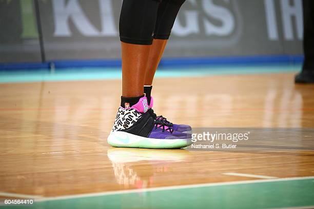 The shoes of Tina Charles of the New York Liberty are seen during the game against the Washington Mystics on September 13 2016 at Madison Square...