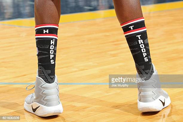 The shoes of Zach Randolph of the Memphis Grizzlies during the game against the Portland Trail Blazers on November 6 2016 at FedExForum in Memphis...