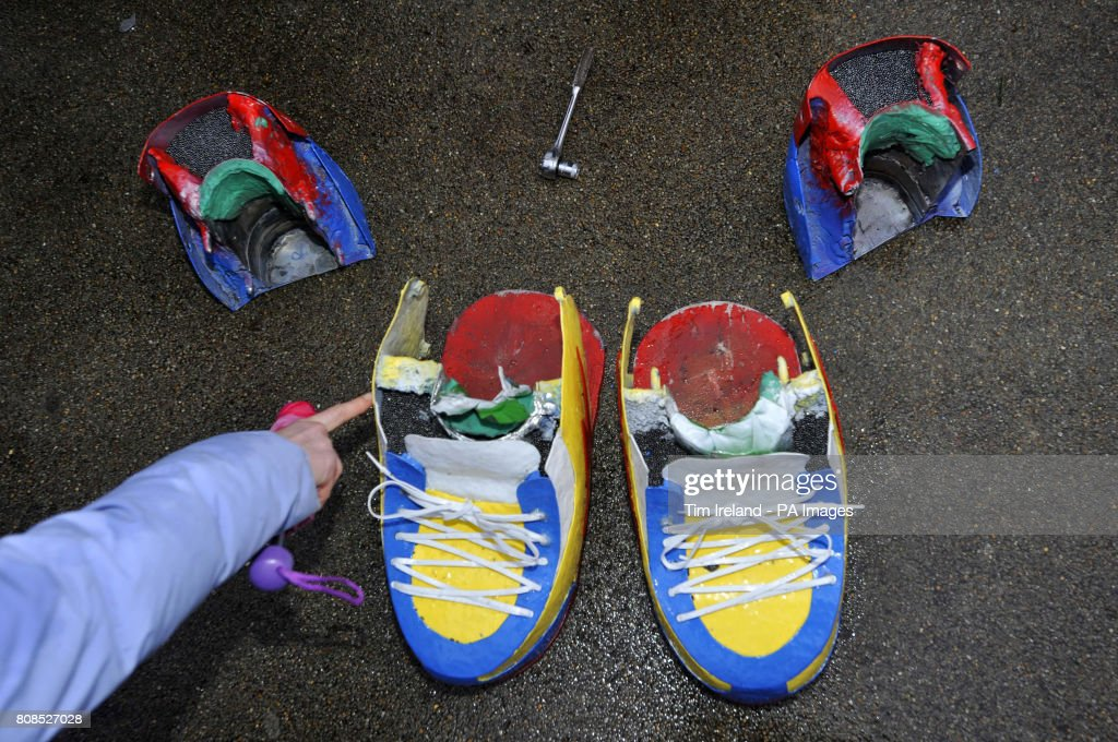 71910e2654a The shoes worn by Ashrita Furman from Queens, New York, used to set ...