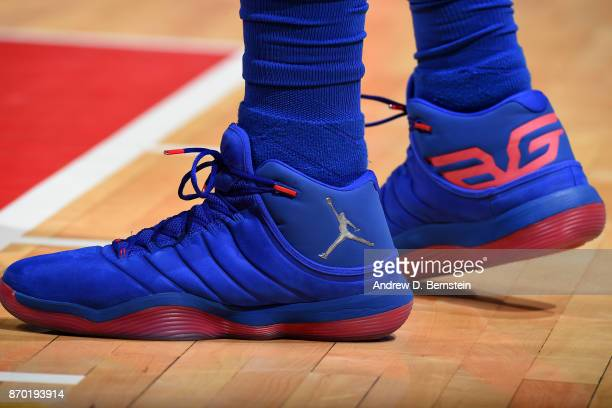 the shoes worn by Blake Griffin of the LA Clippers are seen during the game against the Memphis Grizzlies on November 4 2017 at STAPLES Center in Los...