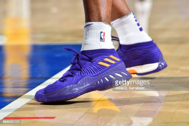 The shoes worn by Brandon Ingram of the Los Angeles Lakers are seen during the game against the Philadelphia 76ers on December 7 2017 at Wells Fargo...