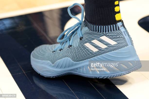 the shoes worn by Jamal Murray of the Denver Nuggets are seen during the game against the Indiana Pacers on December 10 2017 at Bankers Life...