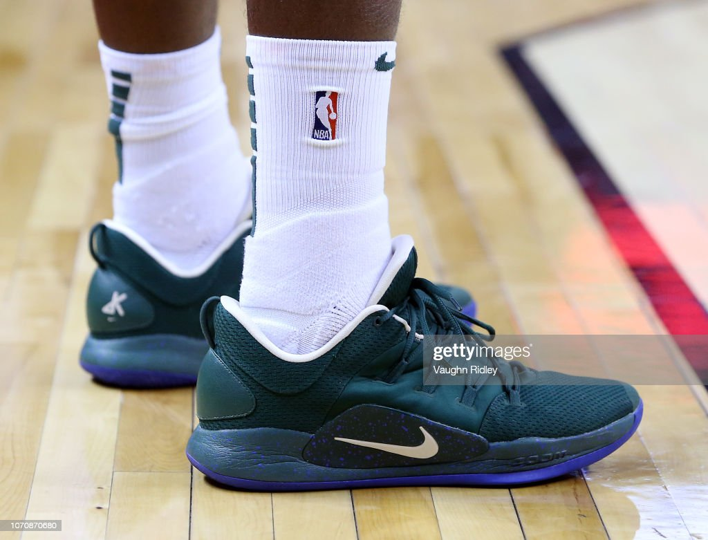 The shoes worn by Khris Middleton of ...
