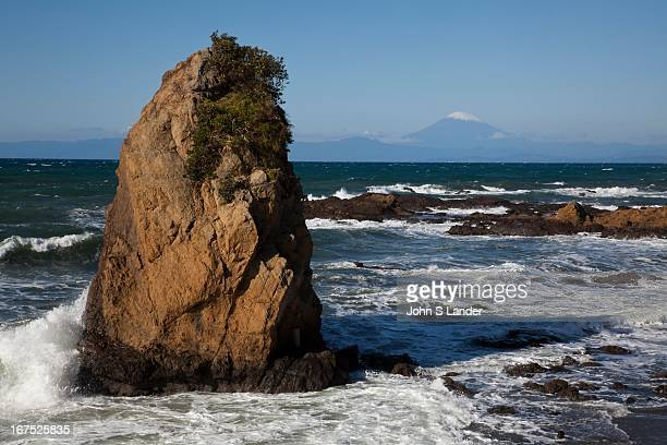 The Shonan Coast offers a dramatic view of Mt Fuji and Suruga Bay south of Tokyo at Tateishi The Shonan Beach area has always been a draw of urban...