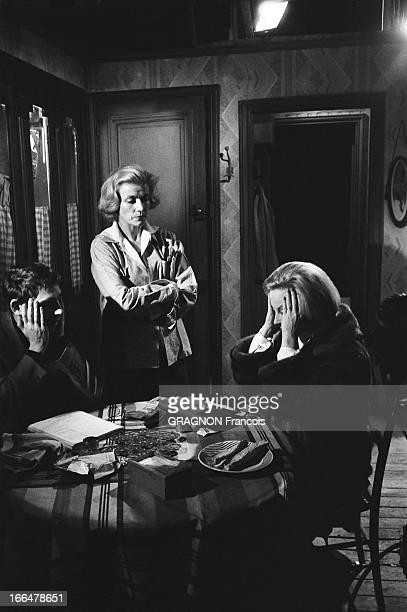 The Shooting Of The Film 'Les Scelerats' By Robert Hossein Tournage du film 'Les scélérats' de Robert HOSSEIN réalisateur et acteur aux studios de...