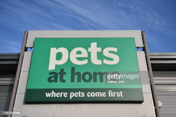 The shop front of company Pets at Home is seen on November 22, 2020 in Stoke-on-Trent, England .