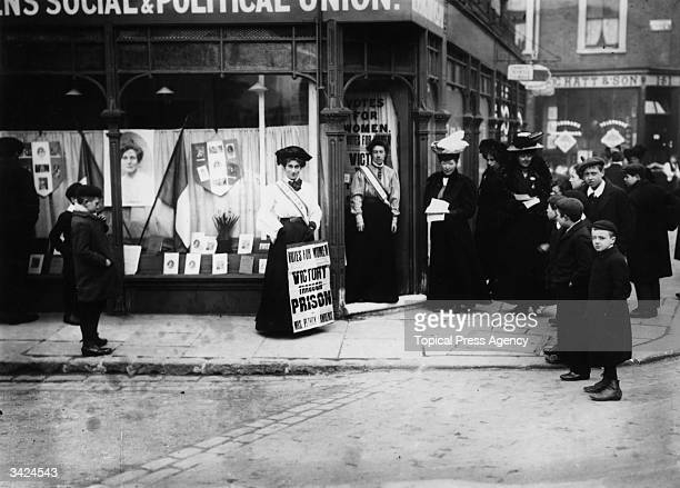The shop run by suffragettes to promote their cause in Kensington London