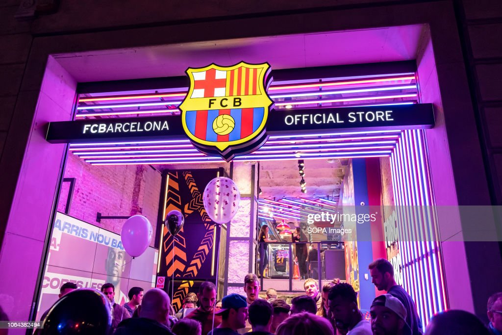 0a8887a9c The shop window of the Football Club Barcelona store is seen during ...