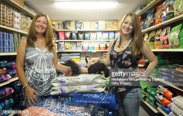 The Shoppe Pets Purrfur for herbal remedy story.L-R Kathy and Emily Quirk Birdsboro, owners of the The Shoppe Pets Purrfur in Exeter Township, with...