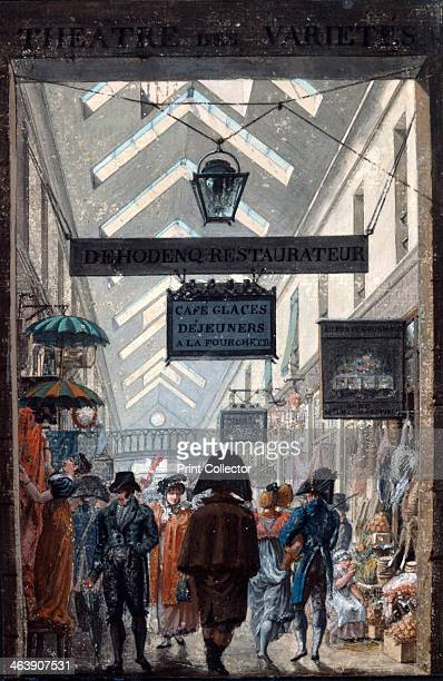 'The Shopping Arcade 'des Panoramas' in Paris' 1807 From the Musee Carnavalet Paris
