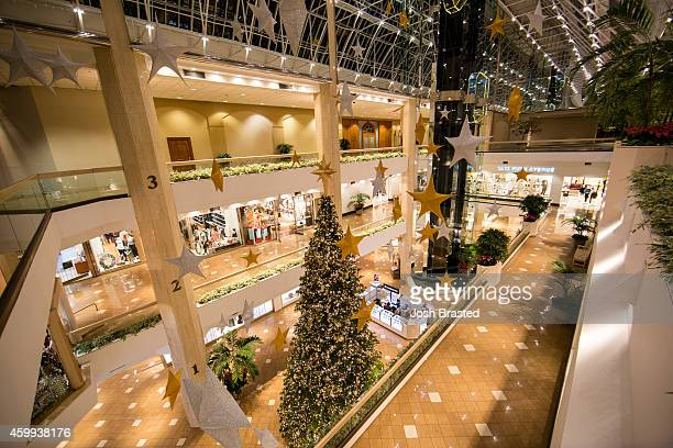 The Shops at Canal Place are decorated for Christmas on December 3, 2014 in New Orleans, Louisiana.