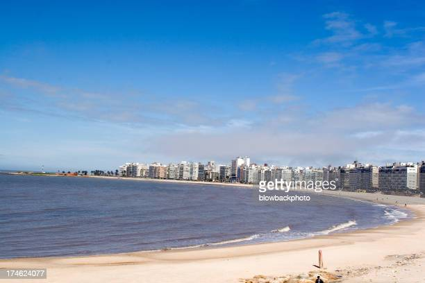 The shore and skyline of Montevideo