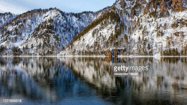the shore of the yenisei. - krasnoyarsk stock pictures, royalty-free photos & images