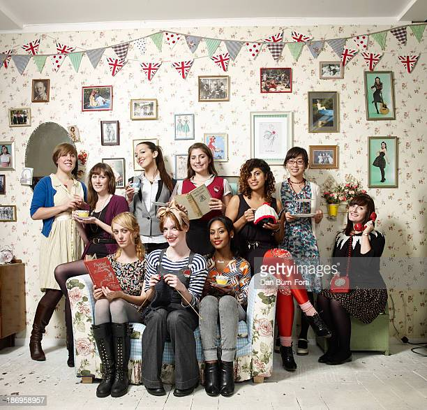 The Shoreditch Sisters Women's Institue are photographed for the Sunday Telegraph on October 21 2009 in London England