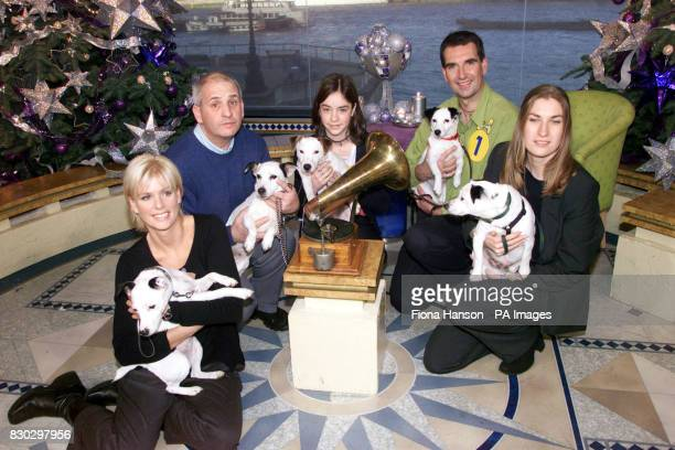 The shortlisted terrier dogs and their owners competing for the new mascot of the HMV chain on ITV's This Morning Lisa Davies and Meg Dave Leigh and...