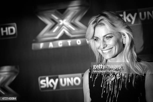 'The show girl Federica Fontana during the final of the the talent show X Factor Assago Italy 11th December 2014 '