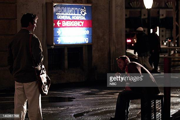 ER 'The Show Must Go On' Episode 22 Air Date Pictured Noah Wyle as Doctor John Carter Scott Grimes as Doctor Archie Morris Photo by Scott...