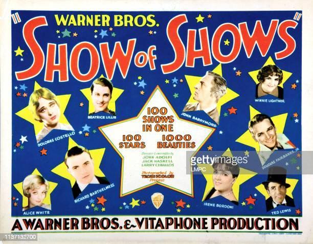 The Show Of Shows poster Alice White Richard Barthelmess Dolores Costello Beatrice Lillie John Barrymore Winnie Lightner Douglas Fairbanks Jr Ted...