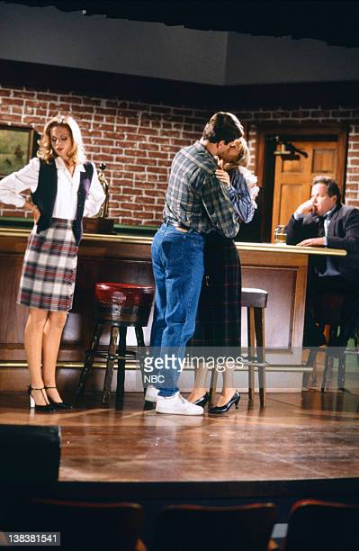 FRASIER The Show Where Diane Comes Back Episode 14 Pictured Cali Timmins as Mary Anne Perry Stephens as Stan Shelley Long as Diane Chambers Googy...