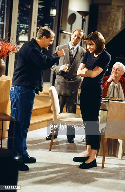 FRASIER The Show Where Woody Shows Up Episode 13 Pictured Woody Harrelson as Woody Boyd David Hyde Pierce as Doctor Niles Crane Jane Leeves as Daphne...