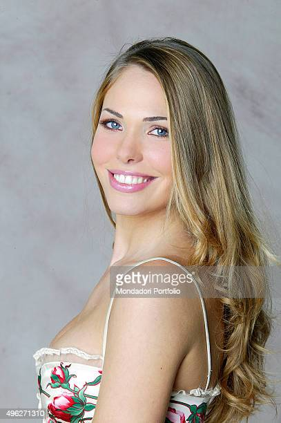 The showgirl Ilary Blasi is one of the presenters of the 56th Sanremo Music Festival Italy 2006