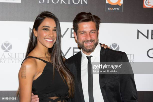 The showgirl Juliana Moreira and TV presenter Edoardo Stoppa attending the charity gala Never Give Up at The Westin Palace of Milan Milan Italy 4th...