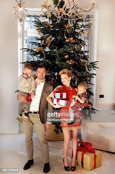 The showgirl Justine Mattera her husband Fabrizio Cassata and their children Vincent and Vivienne Rose born on 22nd August 2007 and 27th October 2009...