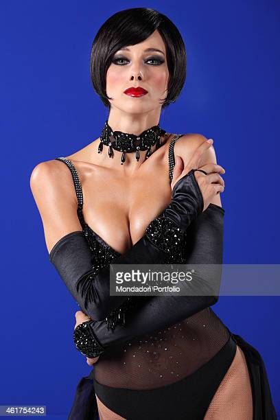 The showgirl Nora Mogalle during a photo shooting in a Mediaset TV studio Nora Mogalle will support Piero Chiambretti for the new season of the TV...
