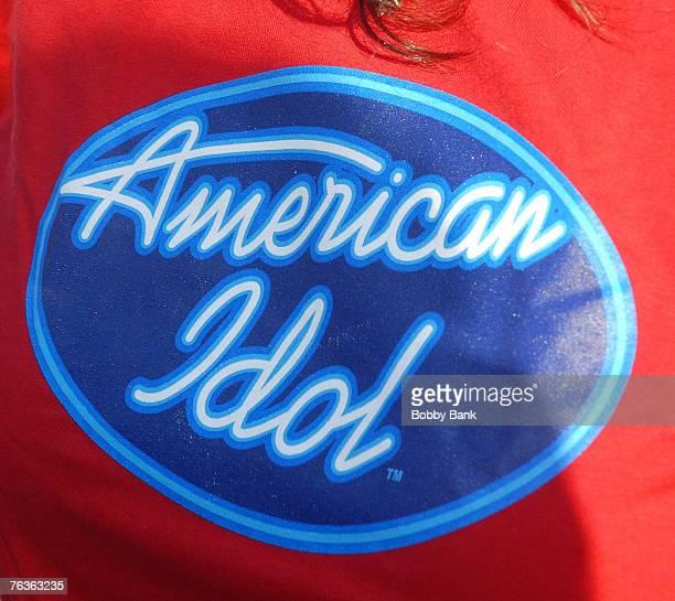 The show's logo at the 'American Idol' Season 7 Philadelphia auditions August 27 2007 at the Wachovia Center in Philadelphia Pennsylvania
