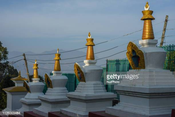 The shrine area around the Thrangu Tashi Yangtse Monastery Kavrepalanchok District Bagmati Zone Nepal in February 2019 Thrangu Tashi Yangtse...