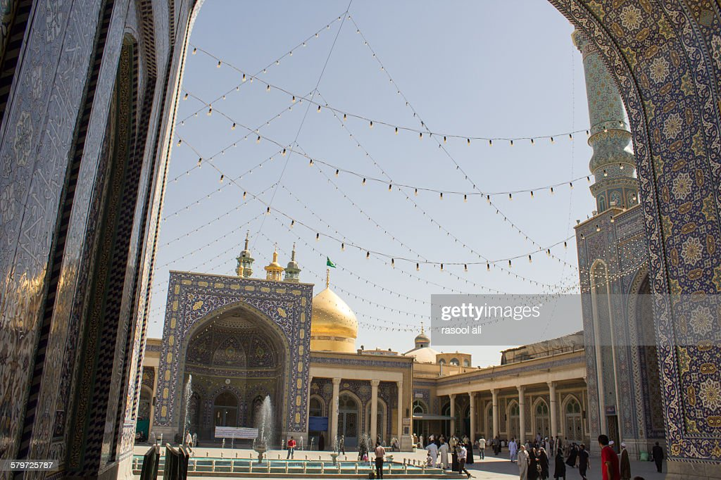 The shrine of Fatima Almasomh : Foto de stock