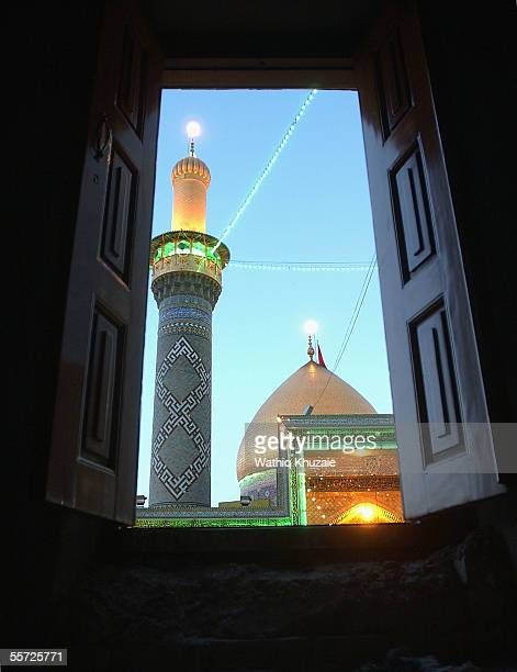 The shrine of holy Shiite Imam Abbas is seen September 19 2005 in the city of Karbala 70 miles south of Baghdad Iraq Hundreds of thousands of Iraqi...