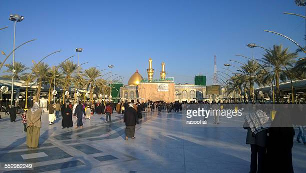 the shrine of imam abbass - karbala stock photos and pictures