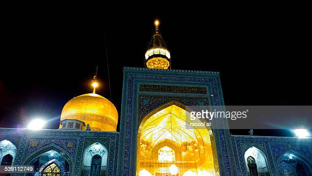 the shrine of imam ali alrida - arbaeen stock photos and pictures
