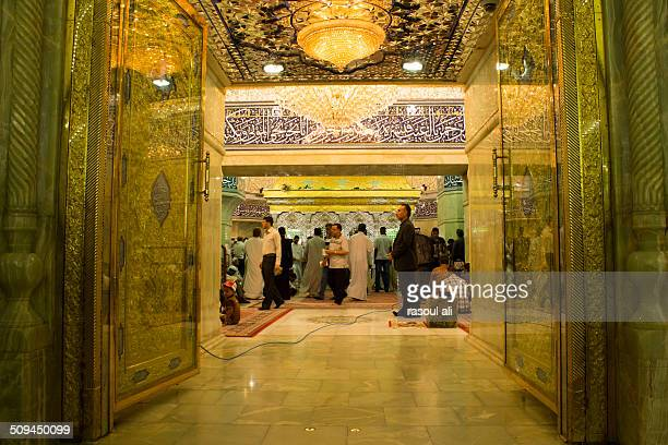 The shrine of Imam Hussein, grandson of the Prophet Mohammed the Prophet of Islam, The third Imam At the Shiite community And meant Shi'ite pilgrims...