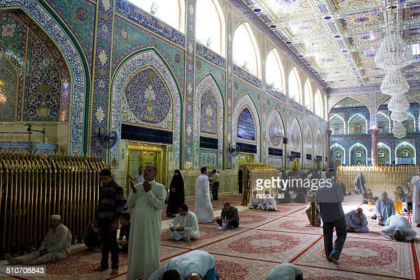 The shrine of Imam Hussein grandson of the Prophet Mohammed the Prophet of Islam The third Imam At the Shiite community And meant Shi'ite pilgrims in...