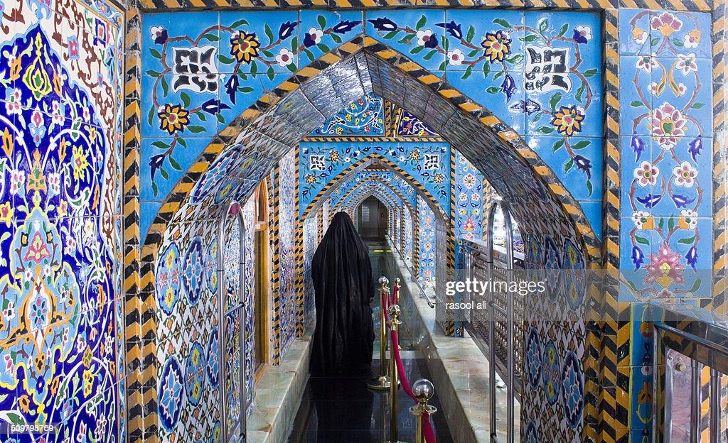 The shrine of Imam Hussein : Stock Photo