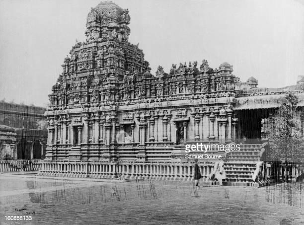 The shrine of Sri Subramanya at the Brihadeeswarar Temple complex in Thanjavur Tamil Nadu India circa 1865
