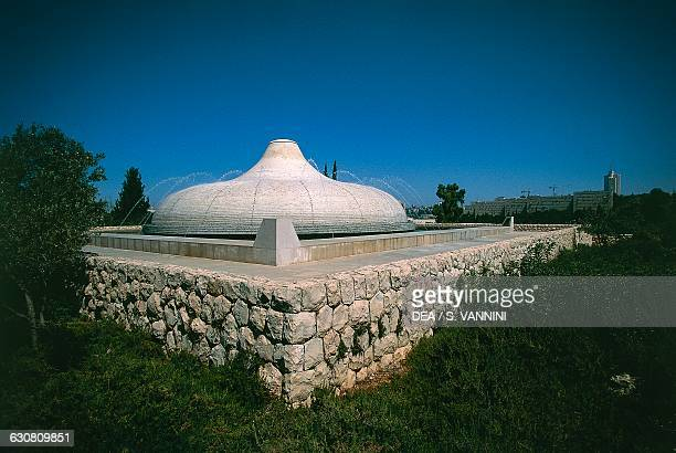 The Shrine of the Book by the architects Frederick John Kiesler and Armand Phillip Bartos where the Dead Sea Scrolls are kept Jerusalem Israel