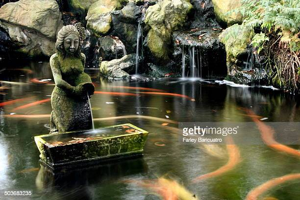 The shrine of the Javanese princess Radin Mas Ayu is located in a koi pond at the foot of Mt Faber in Sentosa Island, Singapore.