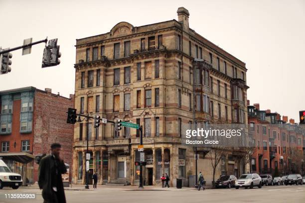 The shuttered Alexandra Hotel building which has been in disrepair for years is pictured at the corner of Washington Street and Massachusetts Avenue...